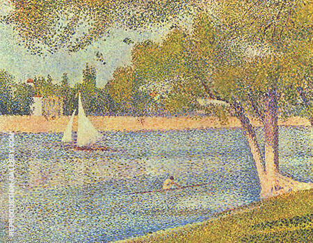 The Seine and La Grande Jatte Springtime 1888 By Georges Seurat Replica Paintings on Canvas - Reproduction Gallery