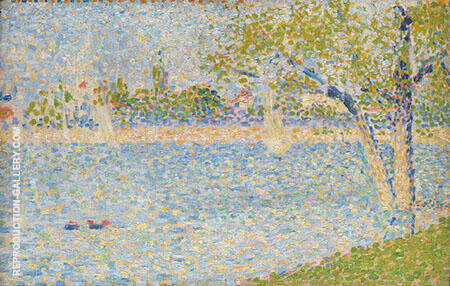 The Seine seen from La Grande Jatte Painting By Georges Seurat
