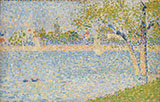 The Seine seen from La Grande Jatte By Georges Seurat