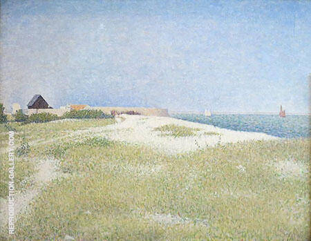 View of Fort Samson 1885 By Georges Seurat