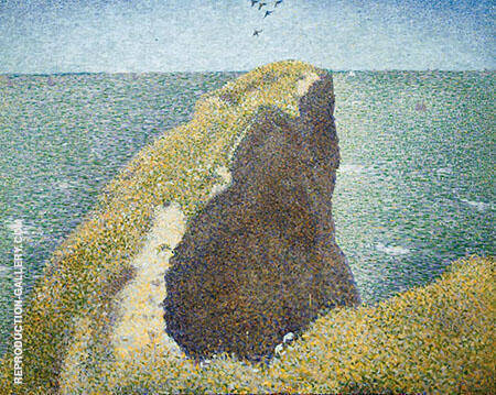 Le Bec du Hoc 1885 Painting By Georges Seurat - Reproduction Gallery