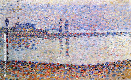 Study for the Channel at Gravelines Evening 1890 By Georges Seurat