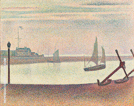 The Channel at Gravelines Evening 1890 By Georges Seurat