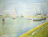 The Channel at Gravelines in The Direction of The Sea 1890 By Georges Seurat