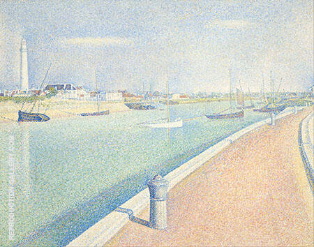 The Channel of Gravelines Petit Fort Philippe By Georges Seurat