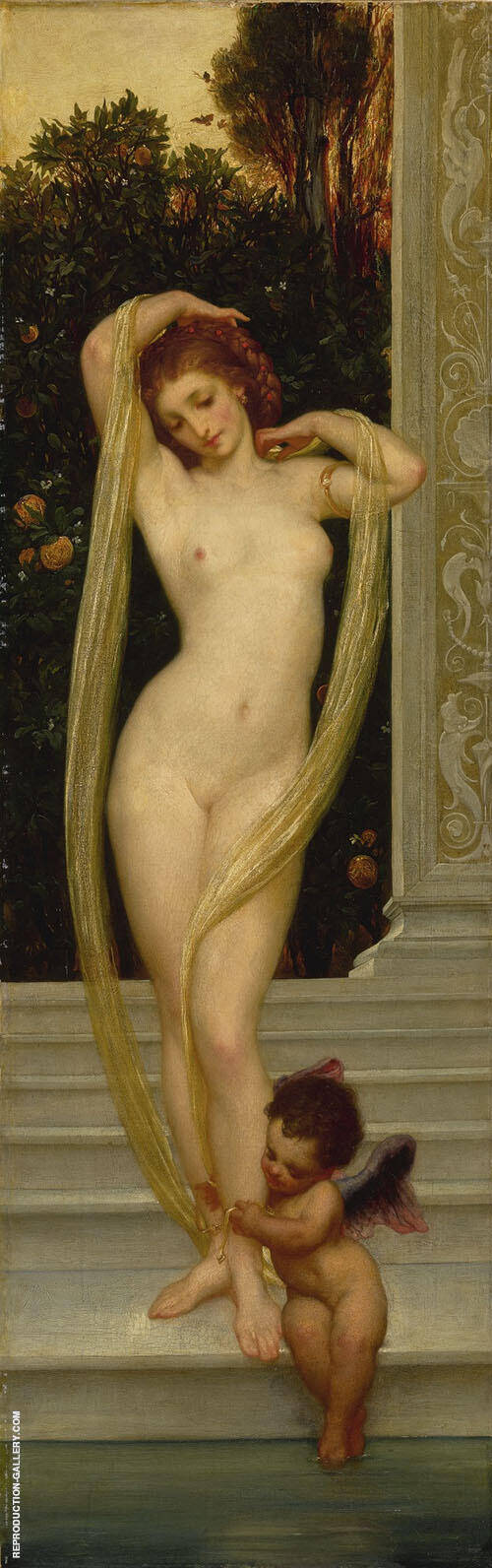 Venus and Cupid c1856 By Frederick Lord Leighton