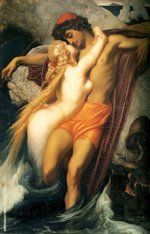 The Fisherman and the Syren From a Ballad by Goethe c1856 By Frederick Lord Leighton