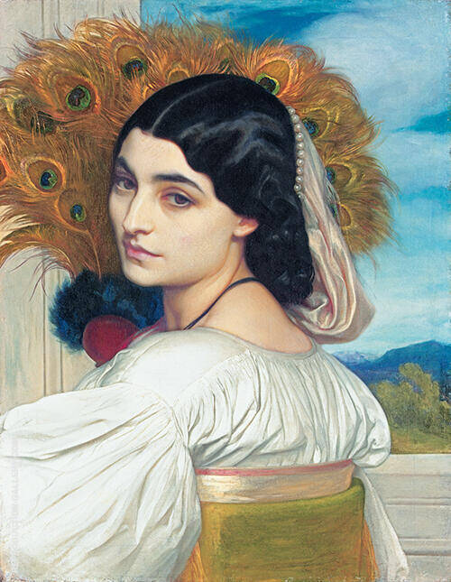 Pavonia c1858 By Frederick Lord Leighton