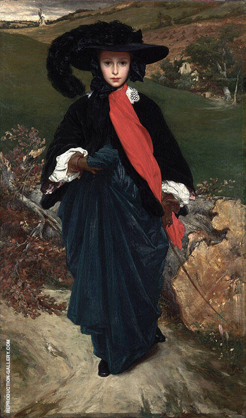 May Sartoris c1860 By Frederick Lord Leighton