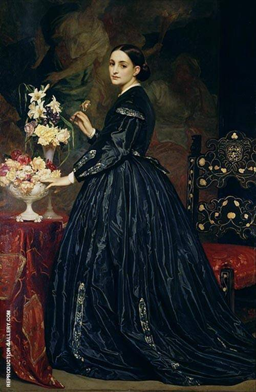 Mrs James Guthrie c1864 Painting By Frederick Lord Leighton