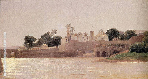 View on the Nile at Asyut 1868 Painting By Frederick Lord Leighton