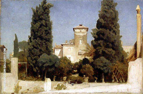 Villa Malta Rome 1860 By Frederick Lord Leighton