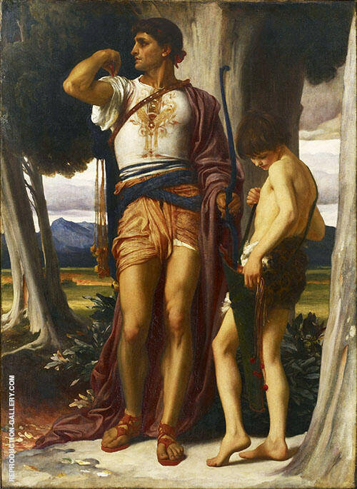 Jonathan's Token to David c1868 Painting By Frederick Lord Leighton