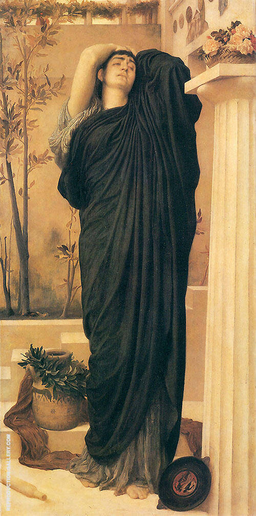 Electra at the Tomb of Agamemnon c1868 Painting By Frederick Lord Leighton