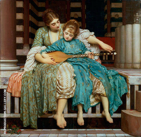 Music Lesson 1877 By Frederick Lord Leighton - Oil Paintings & Art Reproductions - Reproduction Gallery