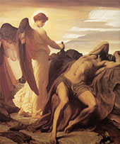 Elijah in the Wilderness c1877 By Frederick Lord Leighton