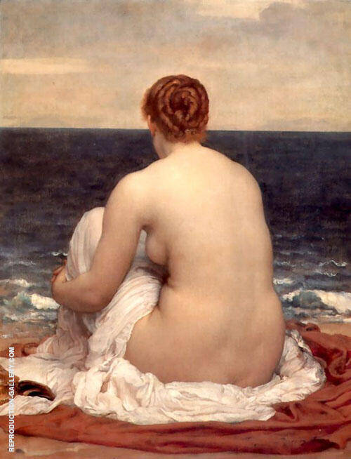 Psamathe c1879 Painting By Frederick Lord Leighton - Reproduction Gallery