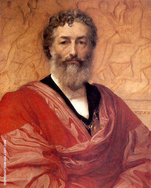 Self Portrait 1880 Painting By Frederick Lord Leighton