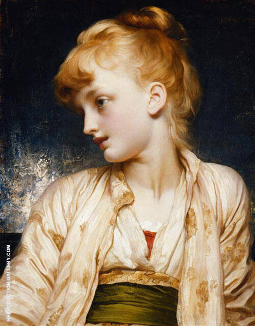 Gulnihal c1886 By Frederick Lord Leighton Replica Paintings on Canvas - Reproduction Gallery