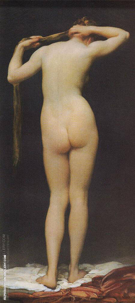 Standing Nude Figure Seen from Behind 1880 Painting By ...