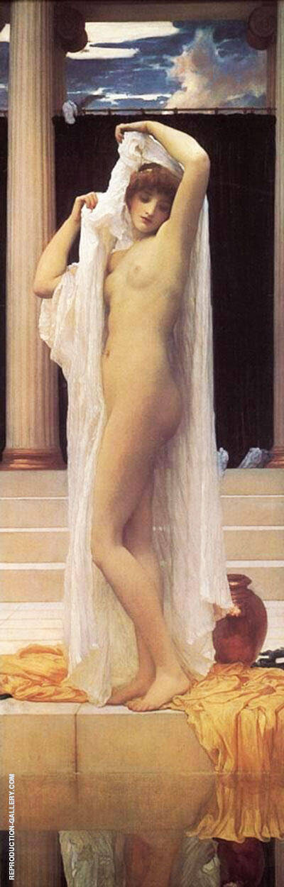 The Bath of Psyche c1889 Painting By Frederick Lord Leighton
