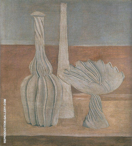 Bottles and Fruit Bowl 1916 By Georgio Morandi
