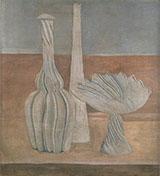 Bottles and Fruit Bowl 1916 By Giorgio Morandi