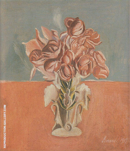 Roses 1917 By Georgio Morandi