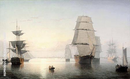 Boston Harbor Sunset By Fitz Hugh Lane