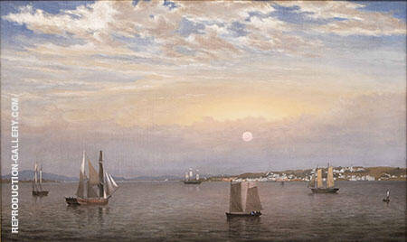 Castine Harbor and Town By Fitz Hugh Lane