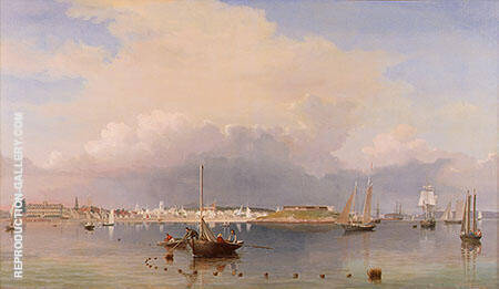 Gloucester Harbor 1852 By Fitz Hugh Lane