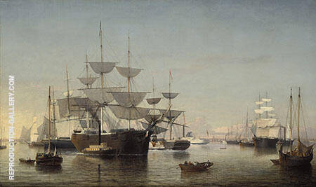 New York Harbour By Fitz Hugh Lane