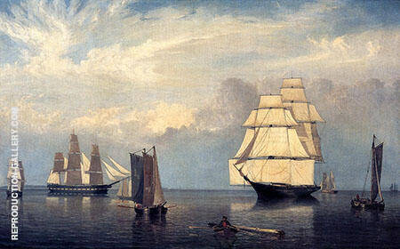 Salem Harbor By Fitz Hugh Lane