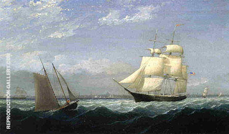 Ships in Boston Harbor By Fitz Hugh Lane