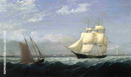 Ships in Boston Harbor By Fitz Hugh Lane