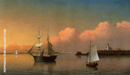 Sunset off Ten Pound Island By Fitz Hugh Lane