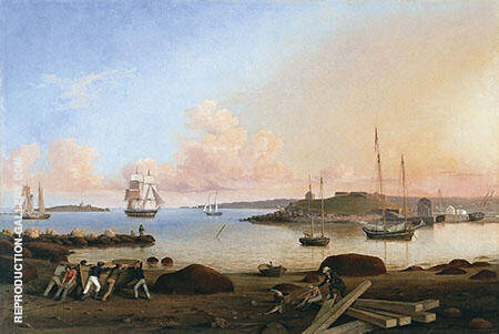 The Fort and Ten Pound Island Gloucester Massachusetts By Fitz Hugh Lane