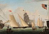 The Yacht Northern Light Boston Harbour By Fitz Hugh Lane