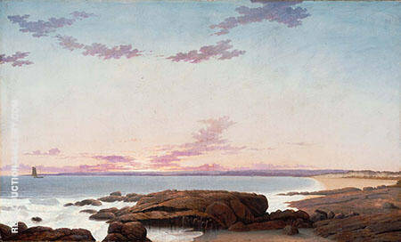 View of Coffin's Beach Ipswich Bay By Fitz Hugh Lane