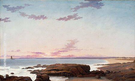 View of Coffin's Beach Ipswich Bay By Fitz Hugh Lane