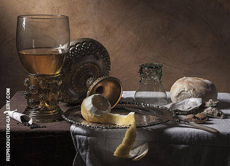 Still Life Breakfast Piece By Pieter Claesz