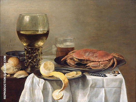 Still Life with Crab By Pieter Claesz