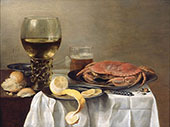 Still Life with Crab By Pieter Claesz