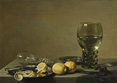 Still Life with Lemons and Olives By Pieter Claesz