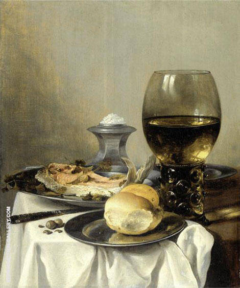 Still Life with Salt By Pieter Claesz