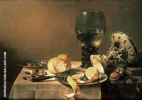 Still Life with Tazza By Pieter Claesz