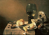 Still Life with Tazza By Pieter Claesz