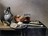 Still Life with Tobacco Pipes and Brazier By Pieter Claesz