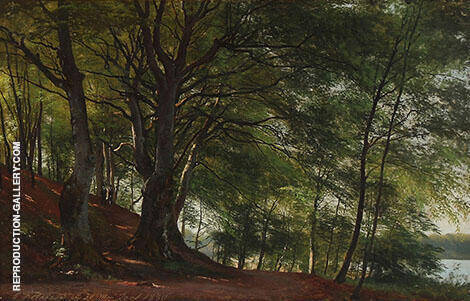 Forest Scene Soro Denmark 1880 Painting By Carl Frederic Aagaard