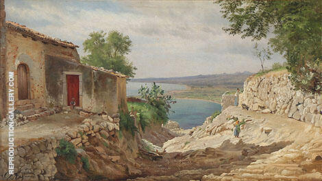 Landscape with a Stream 1872 Painting By Carl Frederic Aagaard